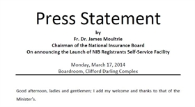 Press Statement by Chairman on Registrants Self Service Facility