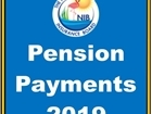 Pension Payment Schedule 2019
