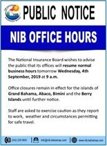 Public Notice NIB Office Hours