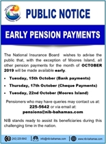 Early Pension Payment for October
