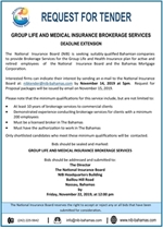 Group Life and Medical Insurance Brokerage- Deadline Extension