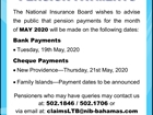 Pension Payment for May 2020