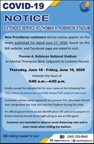 JUNE 17, 2020 – NIB extends service at the Thomas A. Robinson Stadium until Friday