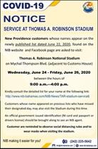 TAR Stadium Service List dated June 22, 2020