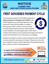 First Payment Cycle for the GovUEBex programme