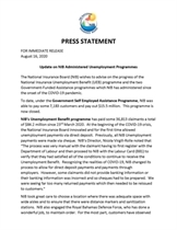 NIB Administered Unemployment Programmes