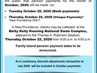 Pension Payment for October 2020