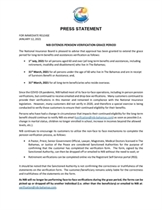 PRESS STATEMENT: NIB EXTENDS PENSION VERIFICATION GRACE PERIOD