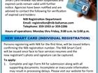 SMART CARD RENEWAL - NEW CARD