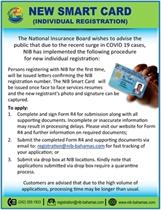 New Smart Card (Individual Registration)